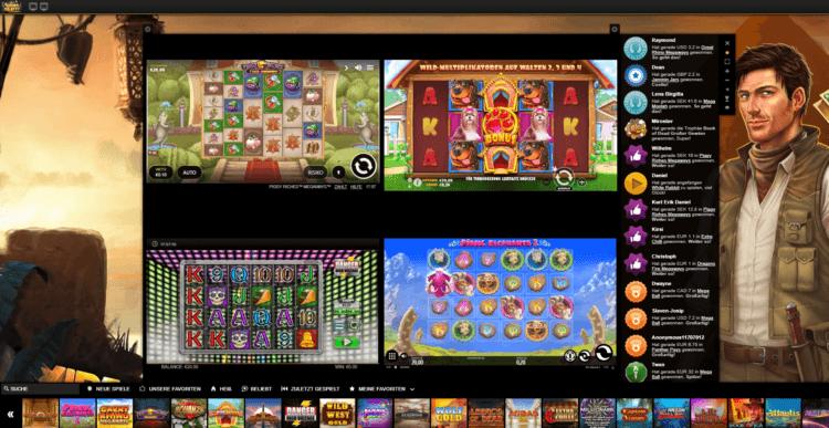Videoslots Multi Slot Feature